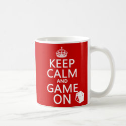 Keep Calm and Game On Classic White Mug