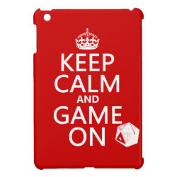 Case Savvy iPad Mini Glossy Finish Case with Keep Calm and Game On design