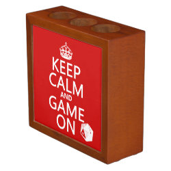 Desk Organizer with Keep Calm and Game On design