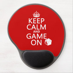 Gel Mousepad with Keep Calm and Game On design