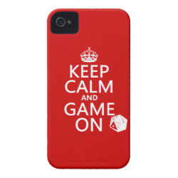 Keep Calm and Game On Case-Mate iPhone 4 Barely There Universal Case