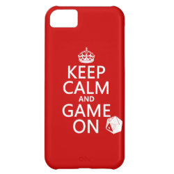 Case-Mate Barely There iPhone 5C Case with Keep Calm and Game On design