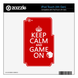 iPod Classic (80/120/160GB) Skin with Keep Calm and Game On design