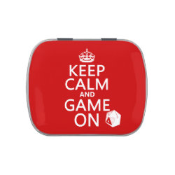 Rectangle Jelly Belly™ Candy Tin with Keep Calm and Game On design