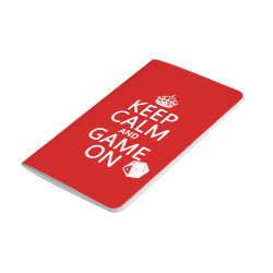 Pocket Journal with Keep Calm and Game On design