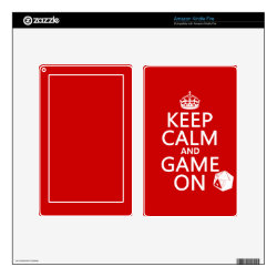 Amazon Kindle DX Skin with Keep Calm and Game On design