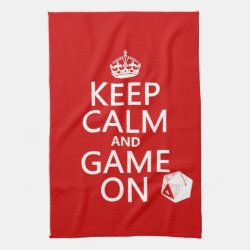 Kitchen Towel 16' x 24' with Keep Calm and Game On design