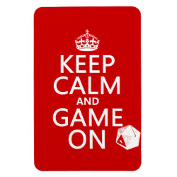 4'x6' Photo Magnet with Keep Calm and Game On design
