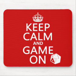 Mousepad with Keep Calm and Game On design