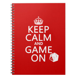 Keep Calm and Game On Photo Notebook (6.5