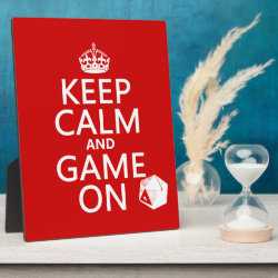 Photo Plaque 8' x 10' with Easel with Keep Calm and Game On design