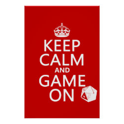 Matte Poster with Keep Calm and Game On design