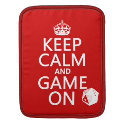 Keep Calm and Game On iPad Sleeve