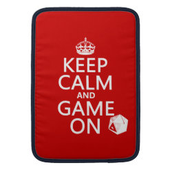 Macbook Air Sleeve with Keep Calm and Game On design