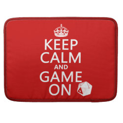 Macbook Pro 15' Flap Sleeve with Keep Calm and Game On design