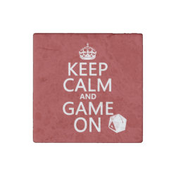 Marble Magnet with Keep Calm and Game On design