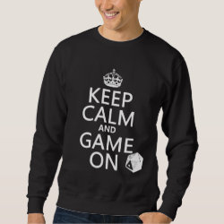 Men's Basic Sweatshirt with Keep Calm and Game On design