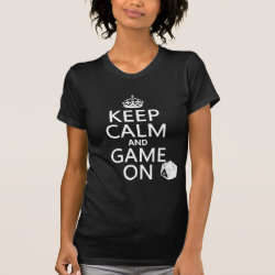 Women's American Apparel Fine Jersey Short Sleeve T-Shirt with Keep Calm and Game On design