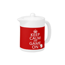 Small Tea Pot with Keep Calm and Game On design