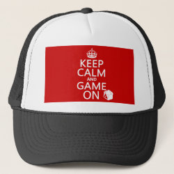 Trucker Hat with Keep Calm and Game On design