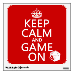 Walls 360 Custom Wall Decal with Keep Calm and Game On design