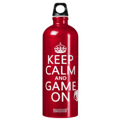 SIGG Traveller Water Bottle (0.6L) with Keep Calm and Game On design