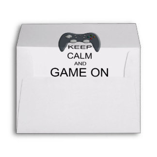 Keep Calm And Game ON Envelope