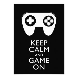 KEEP CALM AND GAME ON - Game pad Announcement