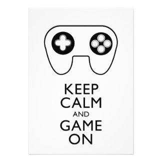 KEEP CALM AND GAME ON - Game pad Cards