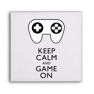 KEEP CALM AND GAME ON - Game pad Envelope