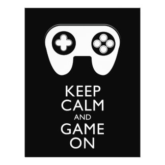 KEEP CALM AND GAME ON - Game pad Flyer