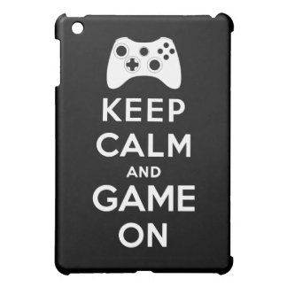 Keep calm and game on iPad mini case