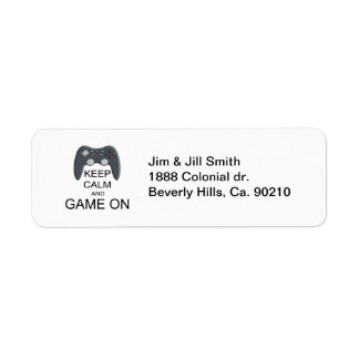 Keep Calm And Game ON Label