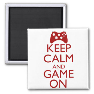 Keep Calm and Game On Magnets