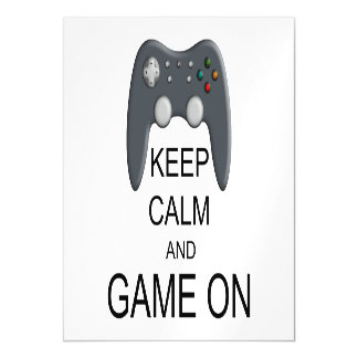 Keep Calm And Game ON Magnetic Card