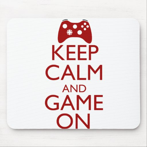 Keep Calm and Game On Mousepad