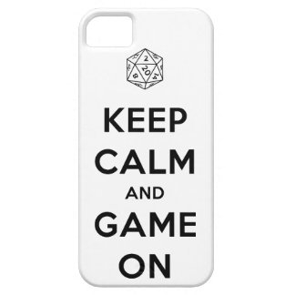 Keep Calm and Game On Phone Case