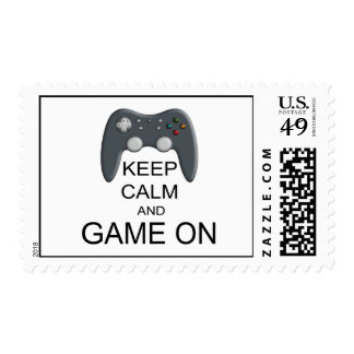 Keep Calm And Game ON Postage