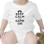 Keep Calm and Game On Rompers