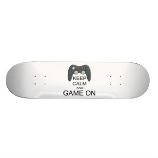 Keep Calm And Game ON Skateboard Deck