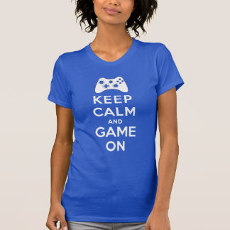 Keep calm and game on tshirt