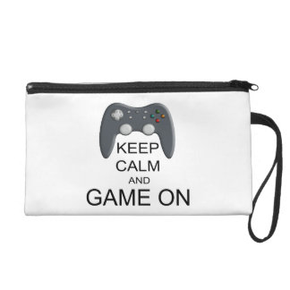 Keep Calm And Game ON Wristlet Purse