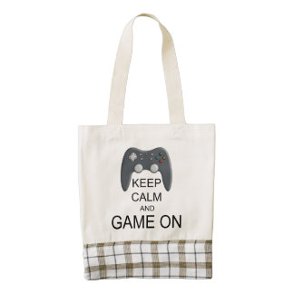 Keep Calm And Game ON Zazzle HEART Tote Bag
