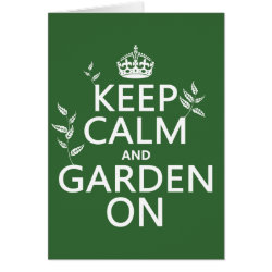 Greeting Card with Keep Calm and Garden On design