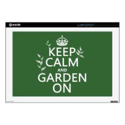 17' Laptop Skin for Mac & PC with Keep Calm and Garden On design