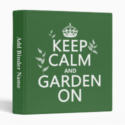 Avery Signature 1' Binder with Keep Calm and Garden On design