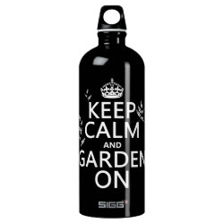 SIGG Traveller Water Bottle (0.6L) with Keep Calm and Garden On design