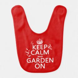 Baby Bib with Keep Calm and Garden On design