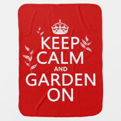 Baby Blanket with Keep Calm and Garden On design