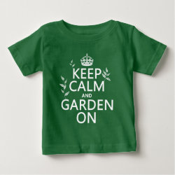 Baby Fine Jersey T-Shirt with Keep Calm and Garden On design